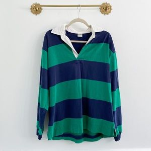 Vintage 90s Rugby Colorblock Collar Shirt